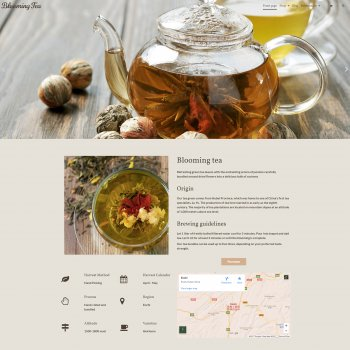 Blooming Tea template
